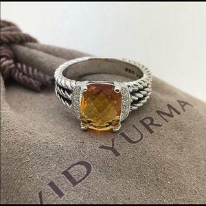 David Yurman Petite Wheaton Citrine ring